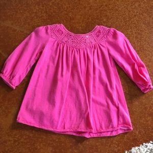 Baby Girl Ralph Lauren LS Pink Dress Sz 6 M